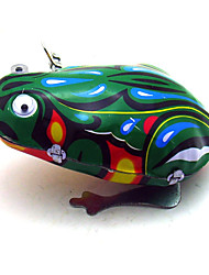 The Frog Wind-up Toy Leisure Hobby  Metal Green For Kids