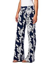 Pantalon Aux femmes Large Vintage Polyester Micro-élastique