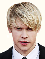 Stylish Side Bang Light Blonde Mixed Shaggy Short Capless Straight Synthetic Wig For Men