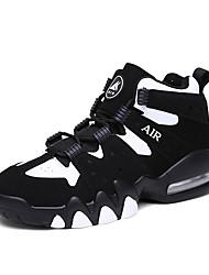Unisex Sneakers Spring Fall Comfort PU Outdoor Athletic Flat Heel Black