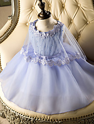 AMGAM A-line Short / Mini Flower Girl Dress - Tulle Jewel with Lace