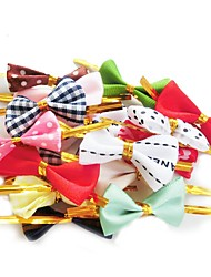 50pcs/set Baking Bread Bag Sealing Lovely Bow Knot Cookie Packing Bags Wire Lollipop Cake Packing (Random Color)