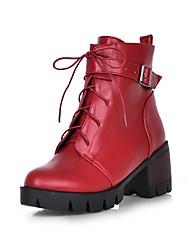 Women's Boots Fall / Winter Comfort / Pointed Toe Wedding / Outdoor / Dress Chunky Heel Buckle / Split Joint