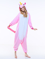 Kigurumi Pajamas New Cosplay® Flying Horse Leotard/Onesie Festival/Holiday Animal Sleepwear Halloween Pink Patchwork Polar Fleece Kigurumi