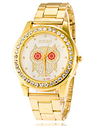 Ladies'/Women's Red-eye Owl Diamond Stainless Steel Watch