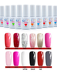 12 pcs / gel fixé à ongles vernis uv art design gel uv lampe à ongles