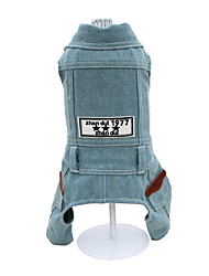 Cat / Dog Denim Jacket/Jeans Jacket / Clothes/Jumpsuit Blue Winter / Spring/Fall Jeans Fashion, Dog Clothes
