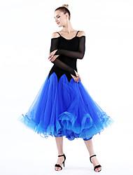 Robes(Fuchsia Vert Bleu Royal,Tulle Velours Fibre de Lait,Danse moderne)Danse moderne- pourFemme Ruches Spectacle EntraînementChaussures