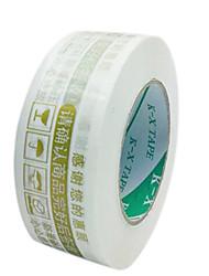 advertencias en los paquetes cinta de sellado de cinta de embalaje cinta de cinta de marcar (tira un 2, venta de oro blanco)