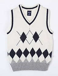 Boy's Casual/Daily Color Block Sweater & Cardigan,Cotton Winter / Fall Black / Red / White / Gray