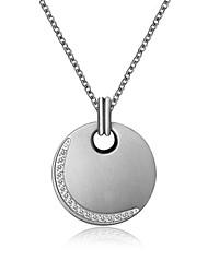 Femme Couple Pendentif de collier Pendentif Acier au titane Imitation de diamant Mode Simple Style Bijoux de Luxe Argent Bijoux Pour