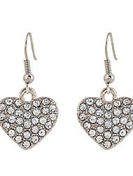 Fine Jewelry Fashion Charms Cute Peach Heart Rhinestone Earrings