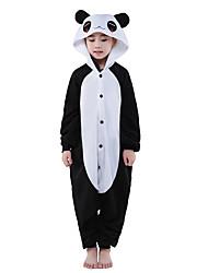 Kigurumi Pijamas New Cosplay® Panda Collant/Pijama Macacão Festival/Celebração Pijamas Animais Dia das Bruxas Preto Patchwork Lã Polar