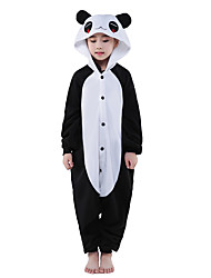 Kigurumi Pyjamas New Cosplay® Panda Gymnastikanzug/Einteiler Fest/Feiertage Tiernachtwäsche Halloween Schwarz Patchwork Polar-Fleece
