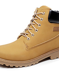 Unisex Boots Spring Summer Fall Winter Couple Shoes Synthetic Outdoor Office & Career Athletic Casual Work & SafetyLight Brown Green