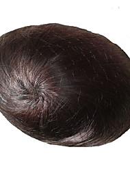 8x10 индийские волосы парик система замены человеческих волос мужская