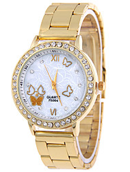 Ladies'/Women's Marble Butterfly Patterns Gold Alloy Women Watch