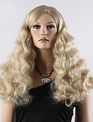Synthetic Wigs Long Hair Curly Blonde Synthetic Wig Heat Resistant Fake Hair Full Head Wig for Women