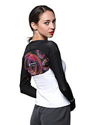 Tops Bike Breathable / Ultraviolet Resistant / Sunscreen Women's Black Polyester