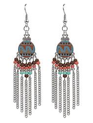 2016 Bohemian Vintage Jewelry Gold/Silver Plated Women's Beads Tassel Earrings