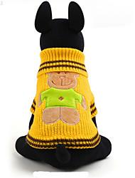 Hunde Pullover Gelb Hundekleidung Winter / Frühling/Herbst einfarbig / Tier Lässig/Alltäglich Other