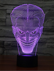 Smiling Face Jack Touch Dimming 3D LED Night Light 7Colorful Decoration Atmosphere Lamp Novelty Lighting Christmas Light