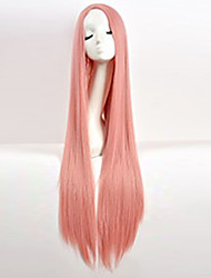 Cos Wig Pink in Long Straight Hair Wigs 100cm Long Wigs