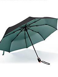 Verde / Azul / Dorado Paraguas de Doblar Soleado y lluvioso textil Viaje / Lady / Hombre