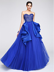 A-Line Sweetheart Floor Length Tulle Formal Evening Dress with Lace by TS Couture®