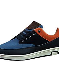 Da uomo-Sneakers-CasualPiatto-PU (Poliuretano)-Blu Marrone Arancione