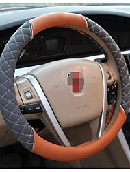Silver Embroidery Steering Wheel Cover, Car Leather Steering Wheel Sets, 54-2C\1619, Diameter 38CM