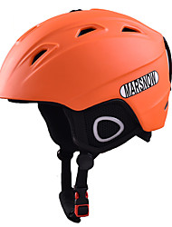 Casco Unisex Casco protettivo da sport Arancione Casco neve CE EN 1077 PC EPS Sport da neve Sci