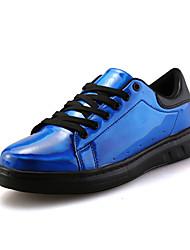Masculino-Tênis-Conforto / Arrendondado-Rasteiro-Preto / Azul Real / Bronze-Tule-Ar-Livre / Casual / Para Esporte