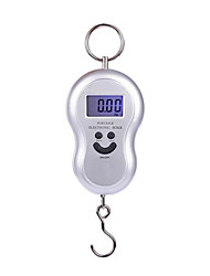 Portable Electronic Scale (Maximum Scale: 100kg,Silvery)