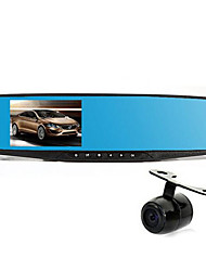 Driving Recorder Blue Mirror Double Lens 4.2 Inch High Definition Night Vision Car Backing Video Recorder H1688