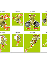 Funny Car Popular Cartoon Frog Personality Stickers 3D Stereo Decorative Decal Stickers House Lizard Waterproof