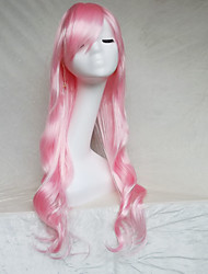 Cosplay Wig Color Pink Color Cast Long Curly Hair Wig 30Inch Points
