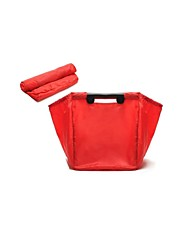 Travel Supermarket Foldable Shopping Bag Green Bag Shopping Wholesale Nylon (Sold Red)