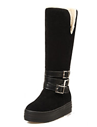 Women's Boots Winter Snow Boots / Creepers / Round Toe Dress Platform Buckle Black / Brown / Beige Snow Boots