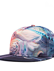 Hip Hop Women Men Street Dance Abstract Graphic Print Adjustable Patchwork 3D Baseball Cap