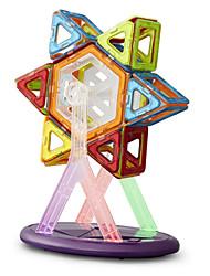 blocs de construction magnétiques des jouets éducatifs pour les enfants 34 pilules magnétiques 15 pièces de couleur arc-en-carte