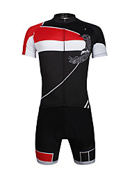 ILPALADINO Cycling Jersey with Shorts Men's Unisex Short Sleeves Bike Clothing Suits Quick Dry Ultraviolet Resistant Breathable