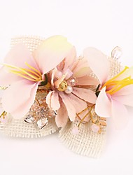 Women's Resin / Fabric Headpiece-Wedding / Special Occasion Hair Combs / Flowers 1 Piece Clear / Pink / White