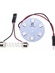 T10 BA9S гирлянда адаптеры купола 5050 9SMD 3 микросхемы RGB LED автомобиля свет купола или чтение света 12v