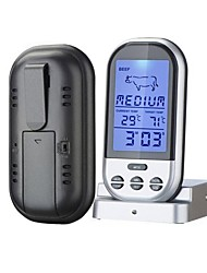 Wireless BBQ Thermometer Kablolu Others Food and temperature, timer display, thermometer alarm function Siyah Solmaya