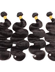 Menschenhaar spinnt Peruanisches Haar Große Wellen 18 Monate 4 Stück Haar webt