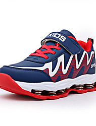 Boy's Athletic Shoes PU Athletic Flat Heel Hook & Loop / Lace-up Blue / Red / Royal Blue EU33-39