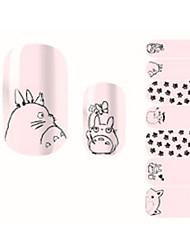 14Pcs/Sheet Nail Art Samoprzylepna Naklejki na panzokci 3D Rysunek / Zwierzę Kosmetyki do makijażu Nail Art Design