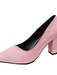 Women's Heels Summer Heels Fleece Casual Chunky Heel Others Black / Pink / Red / Fuchsia / Almond / Khaki Others