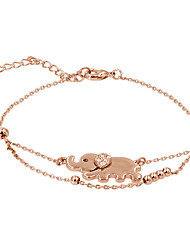 Bracelet/Chain Bracelets Zircon / Gold Plated Animal Shape Fashionable Daily Jewelry Gift Gold / Silver1pc